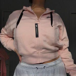 Nike Air semi cropped zip up hoodie